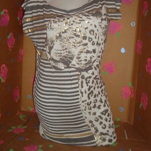 Sexy Leopard Tunic by Retro Doll Size S Small